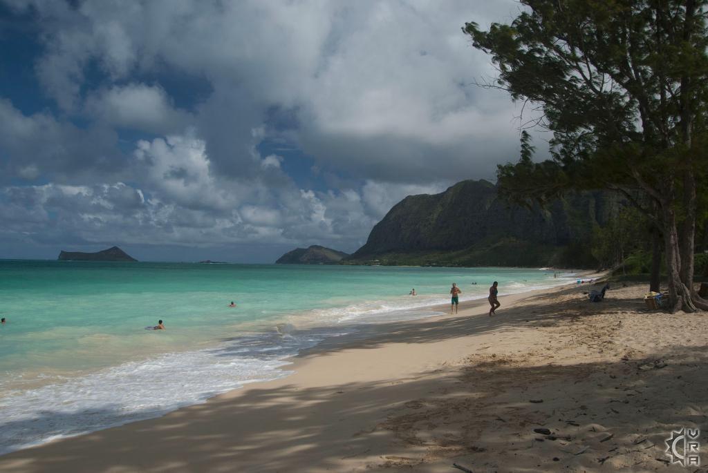 Waimanalo Bay Beach Park In Waimanalo Oahu Hawaii