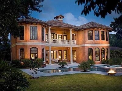 Gated Waterfront Estate Beautifully Appointed in Old World Elegance